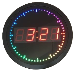 Round LED Wall Clock